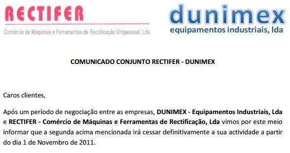 Dunimex - Comunicado Dunimex-Rectifer